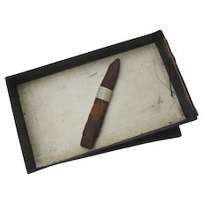"Real Cigar c 1920 ""Cigar from Pr Regent's last visit"""
