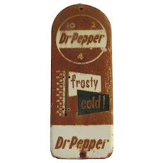 Vintage Dr. Pepper Frosty Cold! Metal Sign Thermometer