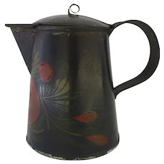 Syrup Pitcher Pennsylvania Toleware 19th Century Tin