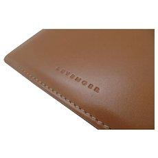 Vintage Levenger Fine Leather Desk Accessories Note Pad Holder Case Tan