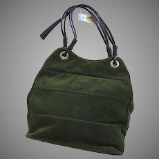 Vintage Velvet Talbots Purse Leather Tassel