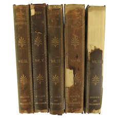 "19th Century Collection of Honore de Balzac's English Translation ""Philosophic & Analytic Studies"" 5 vol. Leather Spine"