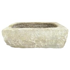 18th Century French Planter/Trough Hand Chiseled, Lyon