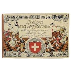 Vintage Songbook Lieder aus der Heimat by Friedrich Niggli, Published Zurich, 1930, 100 Songs Music Score