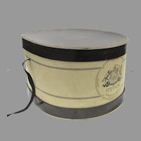 Vintage Oval Stetson Hat Box Coat of Arms Graphics (C)