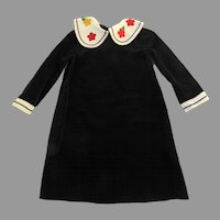 Vintage Florence Eiseman from Merry Simmons 4 Navy Blue Velvet Dress