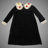 Vintage Florence Eiseman from Merry Simmons 4 Navy Blue Velvet Dress