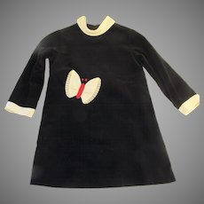 Vintage Florence Eiseman from Merry Simmons 7 Navy Black Velvet Dress