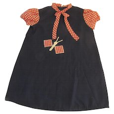 Vintage Florence Eiseman from Merry Simmons 4T Navy Blue Dress Bug