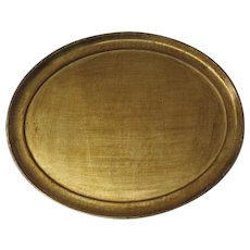 Vintage Florentine Italy Florence Italian Wood Gilt Gold Oval Large Tray Hand Made