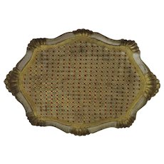 Vintage Large Florentine Painted Gilt Tray