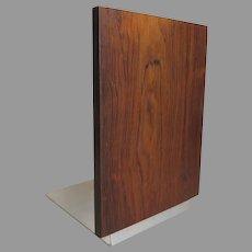Danish Modern Rosewood and Aluminium Metal Book End, Denmark, 1960s