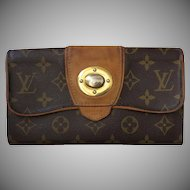 "Vintage Louis Vuitton Clutch Wallet Credit Cards ""Boetie"" Clasp Hardware"