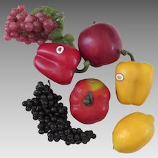 Nice Quality Vintage Faux Fruit Vegetables