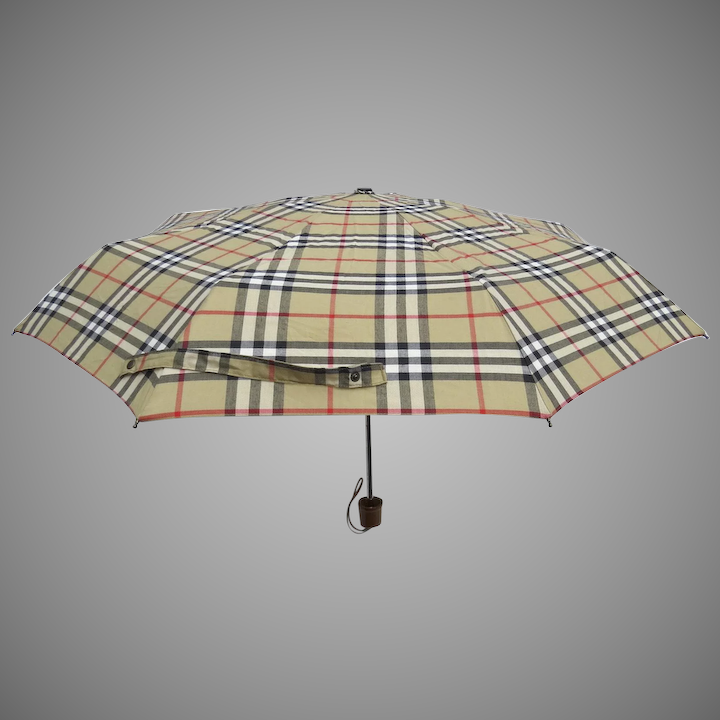 f470f7307 Vintage Burberry Burberry's Nova Check Collapsible Umbrella and Case ...