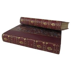 Leather Bound Two Volume Books Rome - Vol. I & II 1904