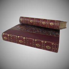 Leather Bound Two Volume Books Rome - Vol. I & II 1904