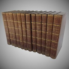 The History of the Decline and Fall of the Roman Empire  In Twelve Volumes By Edward Gibbon London 1813