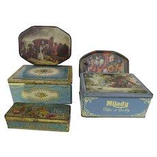 Vintage Advertising Candy Tins Set of Five