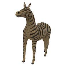 "Life Size Burlap Zebra Model 43"" Tall"