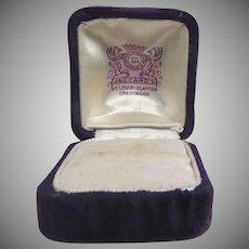 Vintage Purple Velvet Ring Box Mermod Jaccard King St. Louis