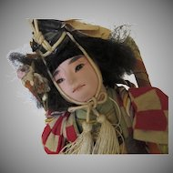 Vintage Japan Japanese Doll c1940's Oriental SAMURAI Doll Young Boy Musha
