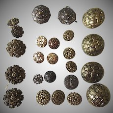 Vintage Group Buttons Golds