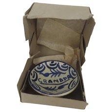 Vintage Miniature Pottery Bowl from Granada Souvenir