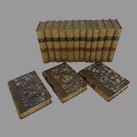 Set of 15 Leather Bound Books Irving's Works G. P. Putnam 1853