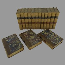 Set of 15 Leather Bound Books Irving's Works G. P. Putnam 1853
