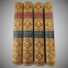 The History of Rome Theodor Mommsen 4 Volumes 1889