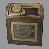 Tin Counter Display Tea Flour Bin by Norton Bros. Chicago Roll Top Country Store