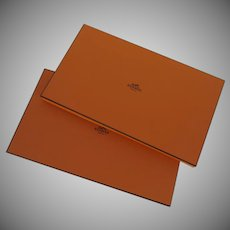 """Two (2) Vintage Hermes Empty Flat 15"""" by 9"""""""
