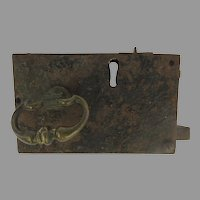 19th Century Old Lock Brass Pull