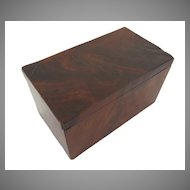 Small American Mahogany Box
