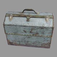 Vintage Metal Painting Tool Box Industrial