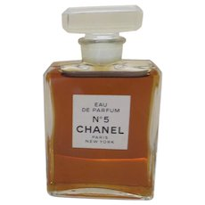 Chanel 1932 Perfume 5 Fluid Oz Bottle Made In France Black Tulip