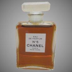 Vintage Chanel Eau de Parfum No. 5 Bottle made in France