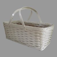 Large Painted Woven Basket with Handles Baby Basket Handles