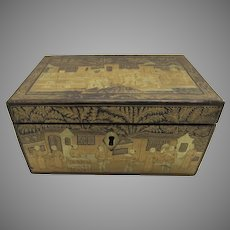 Chinese Export Lacquer Tea Caddy Box