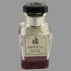 Small French Lanvin Arpege Perfume Bottle Made in France
