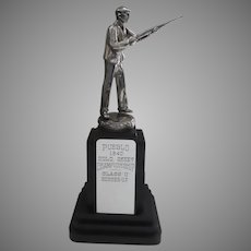 1940's Silver Plated Trophy Skeet Shooting Deco Pueblo Colorado