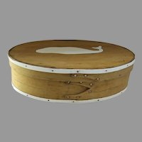 Oval Ditty Box Finger Pantry Box Inset Whale