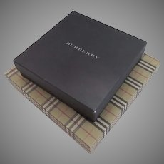 emptyVintage Burberry Plaid Navy Storage Gift Boxes Empty