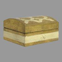 Vintage Italian Florentine Box Gold and White