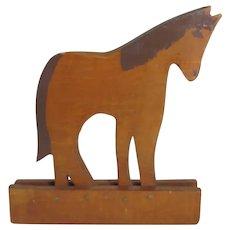 Vintage Folk Art Painted Wooden Horse
