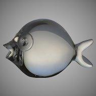 Vintage Signed Steuben Fish Frosted Eyes