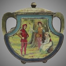 "Vintage Lithograph Biscuit Tin Huntley & Palmers ""Shakespeare"""