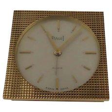 Vintage New in Box Piaget Easel Back Folding Alarm Clock