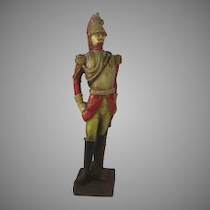 "Vintage 1960's Military Statue Molded Painted ""Cuirassier"" ''"